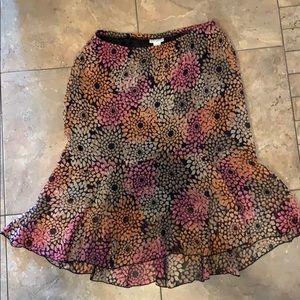 Dresses & Skirts - Hi-low floral Skirt